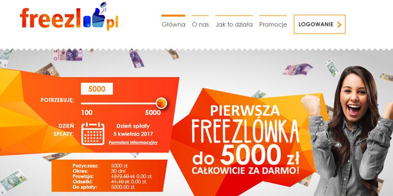 Oferta Freezl pożyczka za darmo 5000 zł
